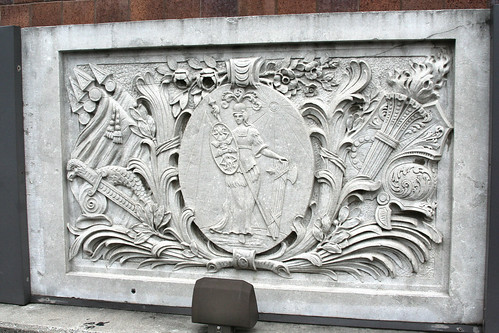 One of the two friezes from the Connor Hotel