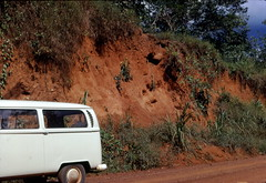 Archaeological site exposed by road cut, Northern Liberia (West Africa), 1968 (gbaku) Tags: pictures africa old history archaeology photo site 60s iron village photos african picture villages historic photographs photograph westafrica tropical vegetation afrika historical 1960s liberian liberia prehistoire prehistoric archaeological archeology sites africain afrique excavation geschichte prehistory oxide africaine laterite arqueologa excavations archeologia preistorico westafrican prhistoire preistoria urgeschichte afrikas vorgeschichte lateritic