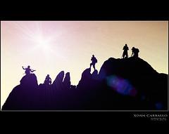 A gran escalada (Xon Carballo) Tags: espaa canon corua silhouettes galicia galiza castro 7d silueta 2010 carballo portodoson baroa phosgalicia xoancarballo