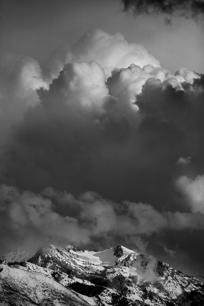 storm clouds over the Wasatch