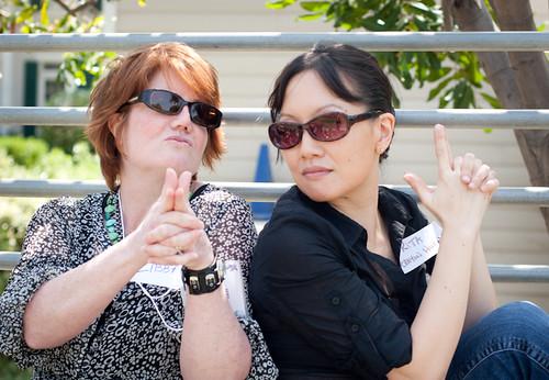 """Libba Bray and Rita Crayon Huang at SCBWI-LA Writer""""s Day"""