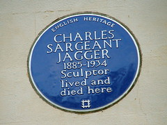 Photo of Charles Sargeant Jagger blue plaque