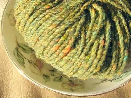 yarn on a saucer