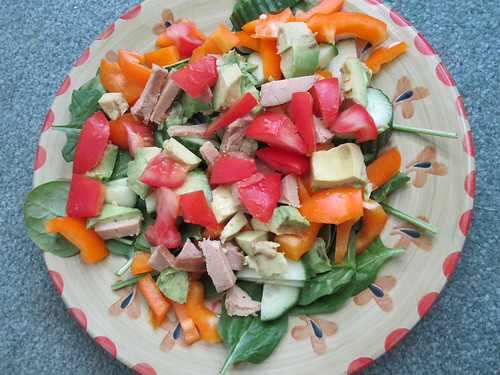Salad with Tofurky