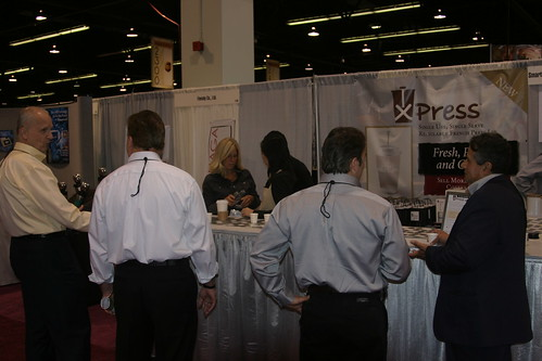 At the booth at SCAA