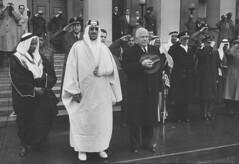 Saud Ibn Abdul Aziz [RF: Saudi Arabia RF];Charles Erwin Wilson (K_Saud) Tags: standing during dc washington king unitedstates charles saudi arabia wilson secretary defense abdul erwin rf aziz ibn pledge allegiance saud timeincown 937356