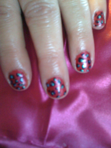 Pink leopard natural nail designs