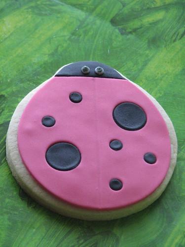 Hot Pink Ladybug Cookie