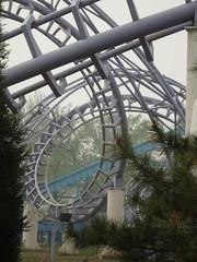 Roller Coaster at Chaoyang Park (ToGa Wanderings) Tags: china park amusement spring asia ride loop spin beijing fast twist rollercoaster chaoyangpark