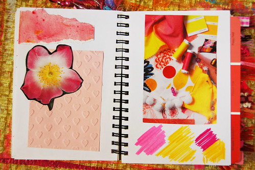 Pink Notebook: pink & yellow images