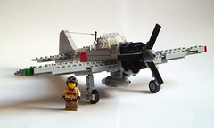 Mitsubishi A6M3 Zero-sen (1) (Mad physicist) Tags: japan fighter lego wwii zero mitsubishi a6m projectintrepid