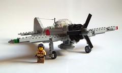 Mitsubishi A6M3 Zero-sen (1) (Mad physicist) Tags: japan fighter lego wwii zero mitsubishi a6m projectintrepid