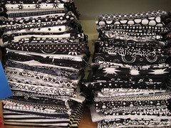 my black and white fabrics