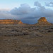 Sunset light on Fajada Butte in Chaco Canyon in NM-01 3-23-09