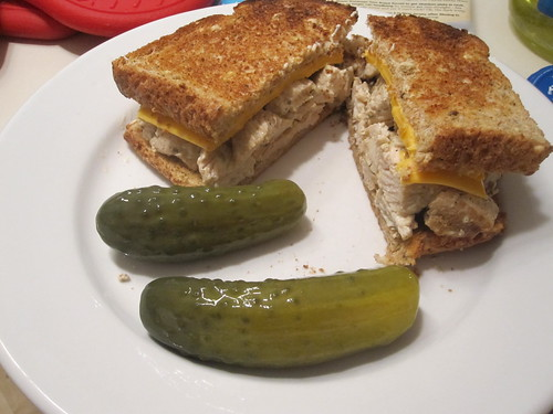 Chicken sandwich, pickles