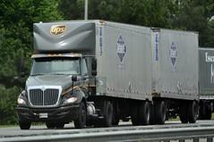 UPS International Double Trailer Truck (FormerWMDriver) Tags: tractor truck big day cab united double semi ups international rig transportation service trailer parcel ih ihc prostar overnite