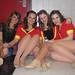 Seniors Sara Roberts, Amelia Lewis, Megan Williams and Haleigh Briggs contemplate their last Dette show.
