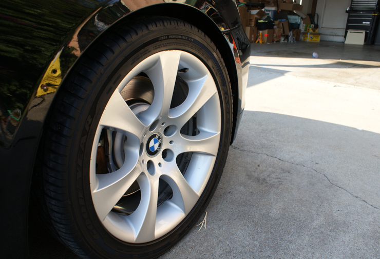 Cleaned BMW 545i wheels