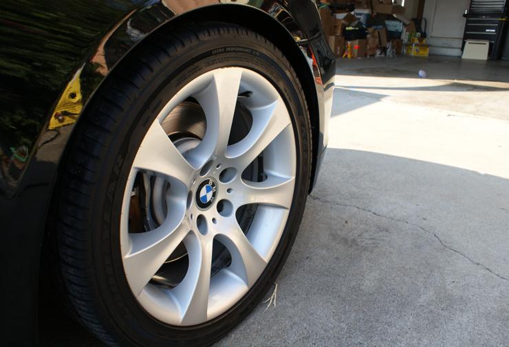 Cleaned BMW 545i wheels