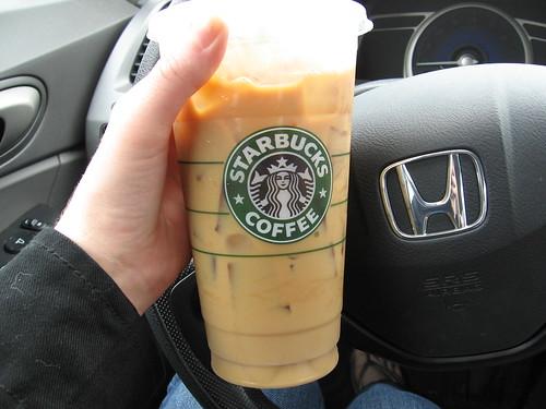 Venti Iced Coffee w/ Soy