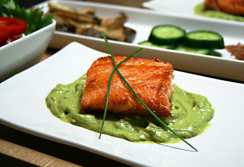 Salmon with Dill Avocado Remoulade