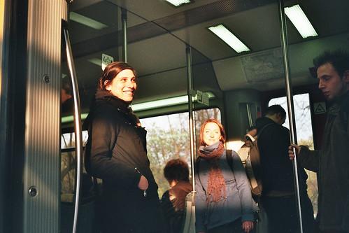 Sunset S-Bahn Snap (Andrea, Eliana)
