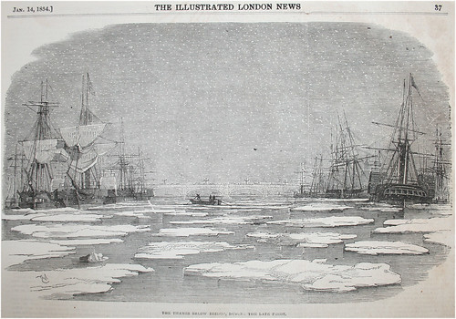 Illustration of ice in the River Thames