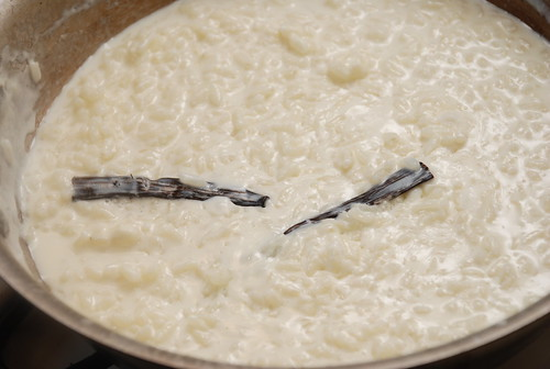 rice pudding with vanilla bean