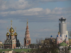 Zamoskvareche, Moscow, Russia (Marc_P98) Tags: tower church skyline river cross russia moscow christian spire dome russian orthodox resurrection moskva kadashi kadashevskiy zamoskvareche