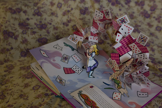 alice in wonderland pop-up.