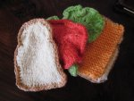 Handknit Cheese Sandwich - Play Food