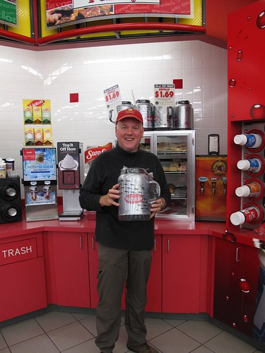 Kevin with his new 100oz soft drink cup