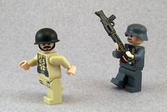 Other Uses (Titolian) Tags: lego helmet carbine vampir luger stahlhelm brickarms