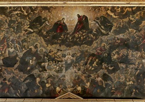 Tintoretto, Paradise (detail)