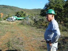 Kieth Robinson surveys his preservation garden