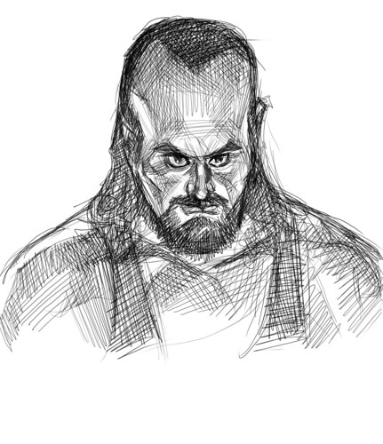 digital sketch of Undertaker - 1