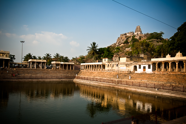 The temple tower from the kalyani, Melkote - Chitra Aiyer Photography