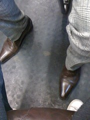 Two pair of leather (feetsgood) Tags: brown black leather shoes calf dressshoes menshoes candidphotos