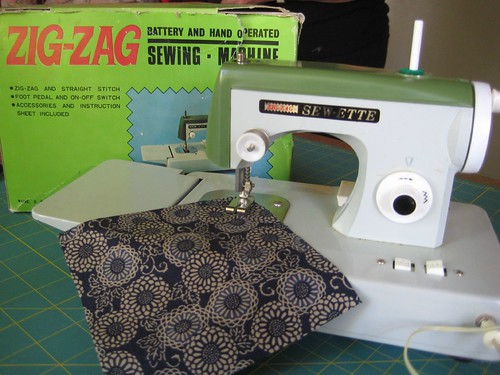 Battery operated toy sewing machine