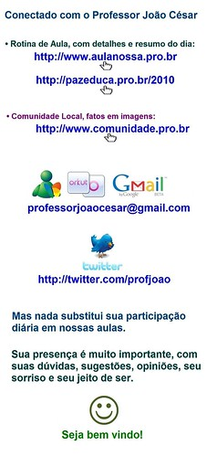 Conectado com Professor Joao Cesar