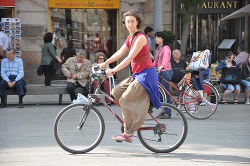 A peu i en bici
