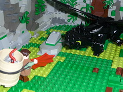 Fixing Toothless's Tail (Stormbringer.) Tags: dragon lego viking toothless hiccup howtotrainyourdragon nightfury
