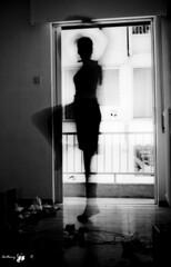 (AnthonyR.) Tags: door light bw sun white black window dark dance ballerina floor low bnw silouet dancegirl