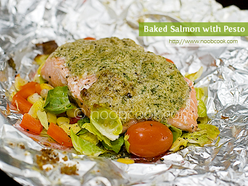 Foil-Grilled Salmon With Pesto And Tomatoes Recipes — Dishmaps