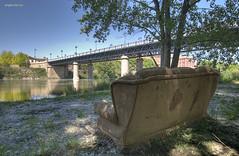 Saln con vistas (Angel Valencia) Tags: water river puente agua iron sofa ebro logroo rioja ribera hierro bidge ltytr1