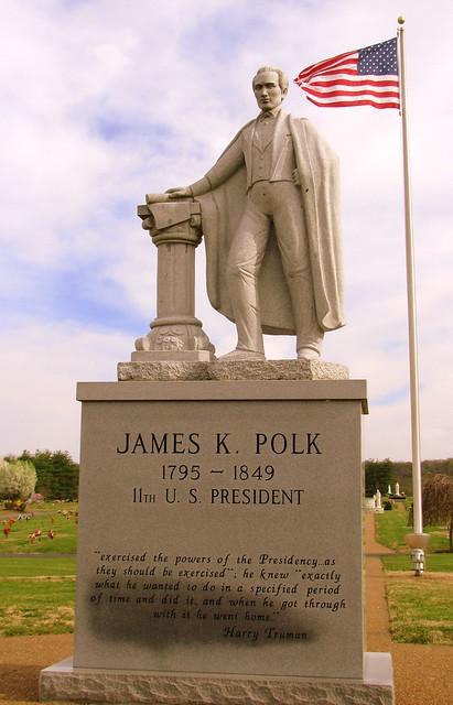 Polk Statue - Polk Memorial Gardens