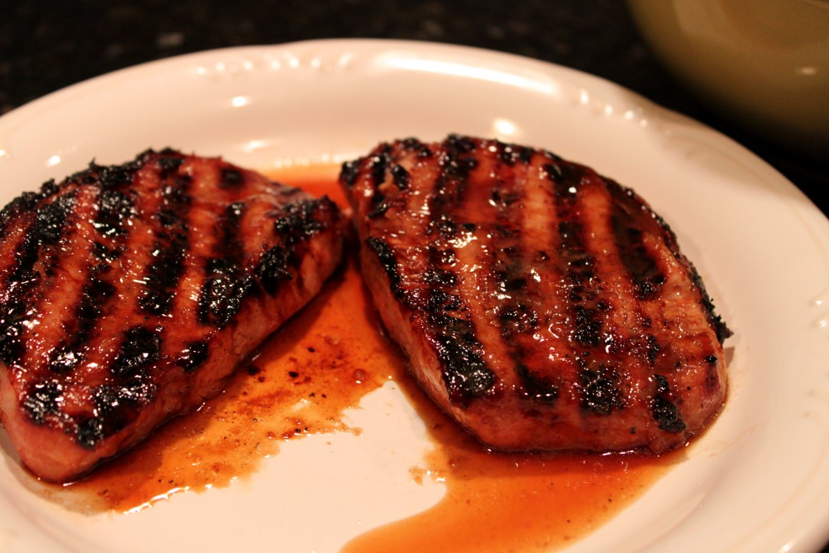 jpg grilled brown sugar pork chops recipe key ingredient grilled pork ...