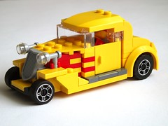 Hot Rod (1) (Mad physicist) Tags: hot lego hotrod rod minifig lugnuts minifigure