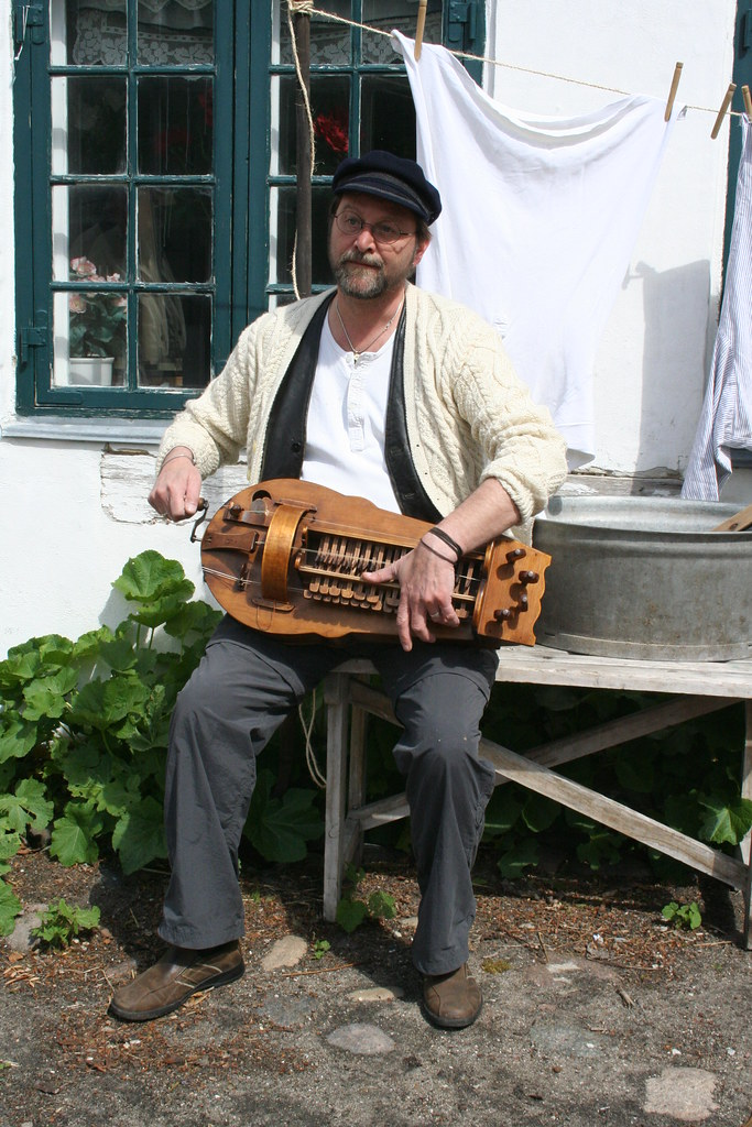 John Palying the Hurdy-Gurdy