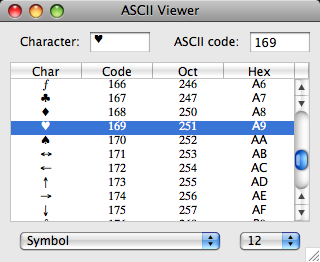 ascii viewer